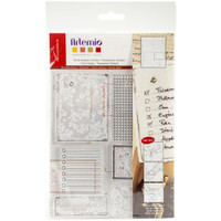 """Artemio Clear Stamps 5.9"""" x 8.7""""- Old Paper"""