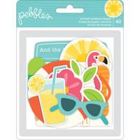 Pebbles - Sunshiny Days Ephemera Cardstock Die-Cuts - Set of 40