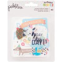 Pebbles - Happy Hooray Ephemera Cardstock Die-Cuts - Set of 40