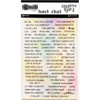 Dyan Reaveley's Dylusions Creative Dyary Back Chat Stickers