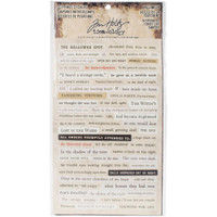 "Tim Holtz - Idea-Ology Clippings Stickers 5"" x 9.5"" - Halloween"