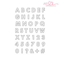 Studio l2e - Planner Stamps - Big Outline Alphabet