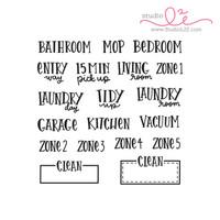Studio l2e - Planner Stamps - Clean It