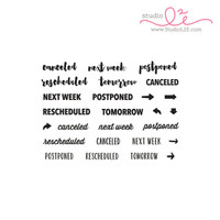 Studio l2e - Planner Stamps - Reschedule It