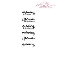 Studio l2e - Planner Stamps -  Routines