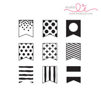 Studio l2e - Planner Stamps - Flag Builder: Dots & Stripes