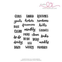 Studio l2e - Planner Stamps - Goals + Habits