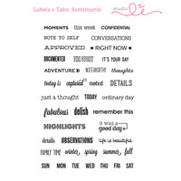 Studio l2e - Planner Stamps - Labels & Tabs: Sentiments