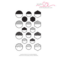 Studio l2e - Planner Stamps - Hi-Light It: Shapes