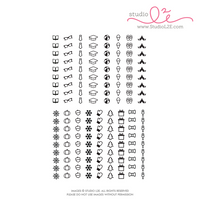 Studio l2e - Planner Stamps - List It: Big Summer/Fall/Winter