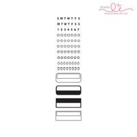 Studio l2e - Planner Stamps - Track It: Boxes