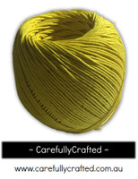 Waxed Hemp Cord - 100 Metre (110 Yards) Roll - Yellow #WHC9