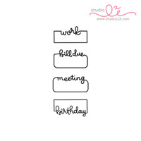 Studio l2e - Planner Stamps - Written Reminders 1
