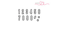 Studio l2e - Planner Stamps - Wuwu Numbers