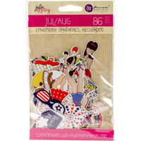 Julie Nutting Ephemera Cardstock Die-Cuts - July & August
