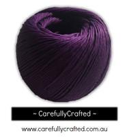 Waxed Hemp Cord - 100 Metre (110 Yards) Roll - Purple #WHC11