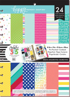 The Happy Planner - Me and My Big Ideas - Happy Memory Keeping - BIG Pre-Punched Cardstock Pad - Brights