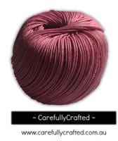 Waxed Hemp Cord - 100 Metre (110 Yards) Roll - Pink  #WHC12