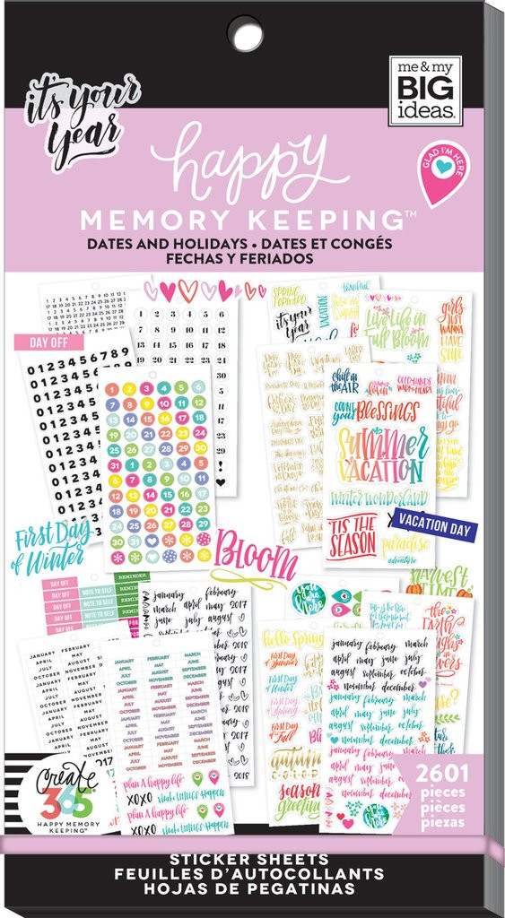 Me and My Big Ideas - The Happy Planner - Sticker Value Packs - BIG - Dates  and Holidays