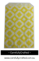 12 Favour Paper Bags - Mod Print - Yellow  #FB1