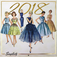 OUTDATED - Simplicity Vintage 2018 Wall Calendar