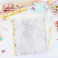 Bloom Daily Planners - Teacher Planner - Marble (Undated)