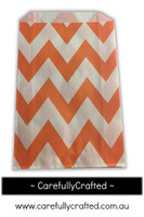 12 Favour Paper Bags - Chevron - Orange  #FB7