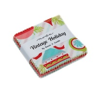 Moda Fabric Precuts - Mini Charm Pack - Vintage Holiday by Bonnie & Camille