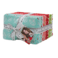 Moda Fabric Precuts - Fat Eighth Bundle - Vintage Holiday by Bonnie & Camille