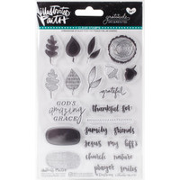 "Illustrated Faith Clear Stamps 4"" x 6"" - Gratitude Documented"
