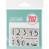 Avery Elle - Clear Stamp Set - Modern Calligraphy Numbers