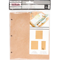 Vicki Boutin - Mixed Media Junque Journal Refills - Set of 12 - Kraft