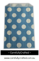 12 Favour Paper Bags - Polka Dot - Blue #FB15