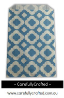 12 Favour Paper Bags - Mod Print - Light Blue #FB19