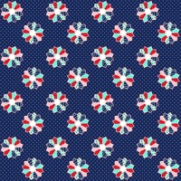 Fabric - A Little Sweetness - Tasha Noel Sweetness Dresden Navy #C6513R-NAVY