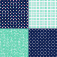 Fabric - A Little Sweetness - Tasha Noel - Fat Quarter Panel Navy #FQP6511-NAVY