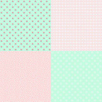 Fabric - A Little Sweetness - Tasha Noel Fat Quarter Panel Mint #FQP6511-MINT