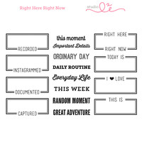 Studio l2e - Planner Stamps - Right Here Right Now
