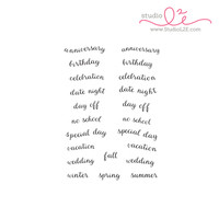 Studio l2e - Planner Stamps - Hi-Light It: Banner Sentiments