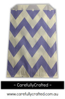 12 Favour Paper Bags - Chevron - Purple  #FB24