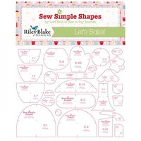 Riley Blake Designs - Lori Holt of Bee in my Bonnet - Bake Sale 2 - Quilt Template Set