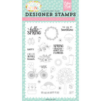 Echo Park Paper - Clear Stamps - Spring Showers