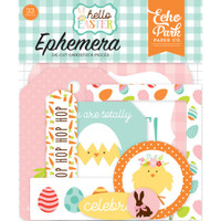 Echo Park Paper - Hello Easter Cardstock Die-Cuts - Icons