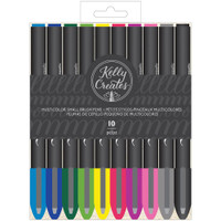 American Crafts - Kelly Creates - Small Brush Pens - Multicolor - Set of 10