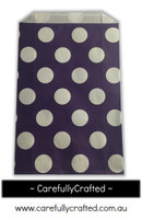 12 Favour Paper Bags - Polka Dot - Dark Purple  #FB29