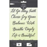 American Crafts - Kelly Creates - Acrylic Traceable Stamps - Quotes 1