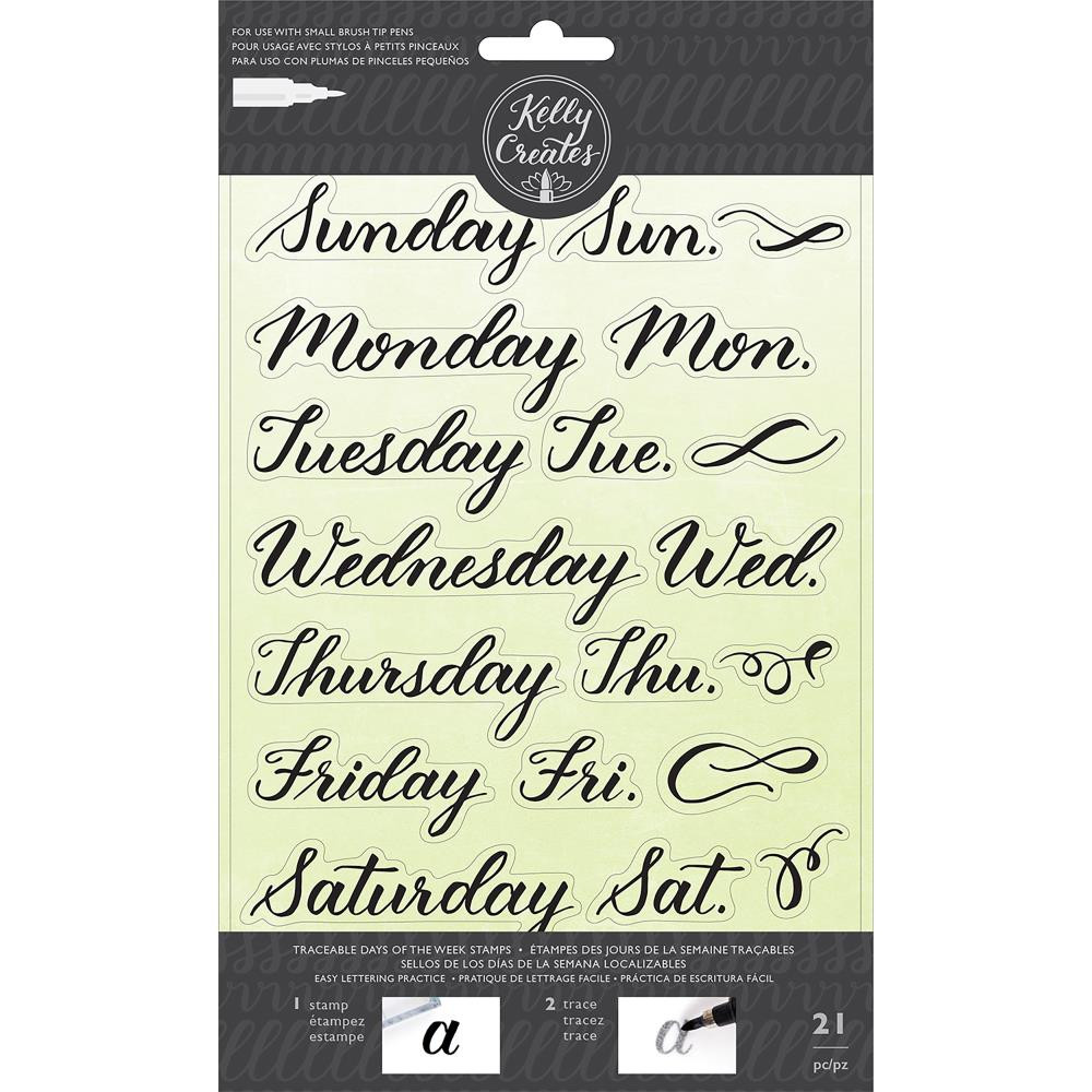 American Crafts Kelly Creates Acrylic Traceable Stamps Days Of The Week