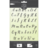 American Crafts - Kelly Creates - Acrylic Traceable Stamps - Alphabet