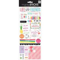 Me and My Big Ideas - The Happy Planner - Specialty Stickers - Life is Better with Friends