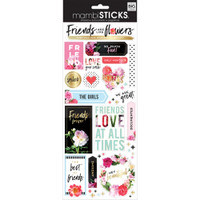 Me and My Big Ideas - The Happy Planner - Specialty Stickers - Friends are like Flowers